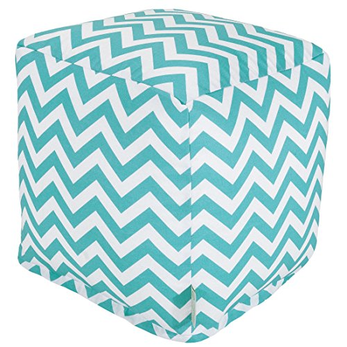 Majestic Home Goods Chevron Cube, Small, Teal by Majestic Home Goods