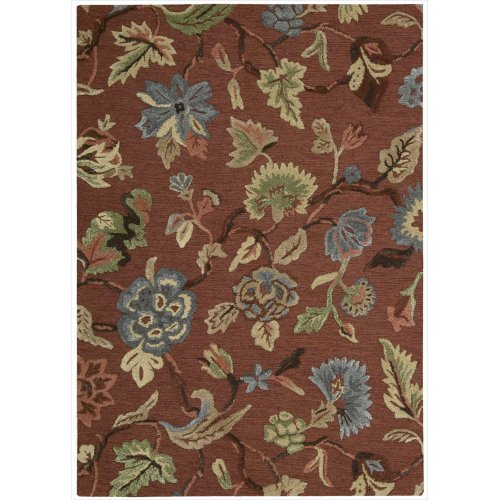 Sunburst Contemporary Area Rugs (Nourison Sunburst (SUN03) Brkyd Rectangle Area Rug, 3-Feet 6-Inches by 5-Feet 6-Inches (3'6