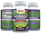 GiaSof Health Moringa Oleifera 800 Mg Pure Leaf Extract Capsules | Aids in Weight Loss | Energy Booster | Boost Immune System | Natural Sleep Aid | Pure Energy | Mood Enhancer | Anti Aging-Best Value! Reviews