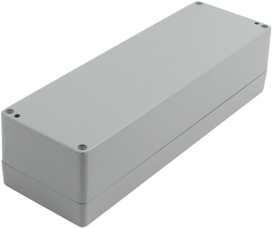DealMux 250x80x64mm Aluminio Impermeable de la Caja de Conexiones del recinto Superficie Pintada: Amazon.es: Electrónica