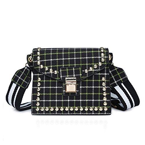 Shoulder Black Mujeres Bolsas para Cadena Mujeres Black kaoling Mujeres Bolsos Messenger Crossbody Bolsos Bags qExT7d