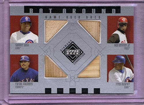 (2002 Upper Deck Diamond Connection Bat Around Quads #SGPM Sammy Sosa - Ken Griffey Jr. - Rafael Palmeiro - Fred McGriff)