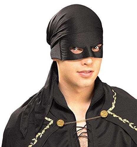 White Zorro Costume (Zorro Bandana with Eva Mask)