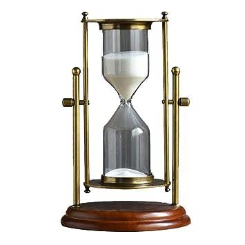 NJLC Reloj De Arena Temporizador, Reloj De Arena Simple De Metal DecoracióN del Hogar Relojes De Arena De La Oficina,15minutes: Amazon.es: Hogar