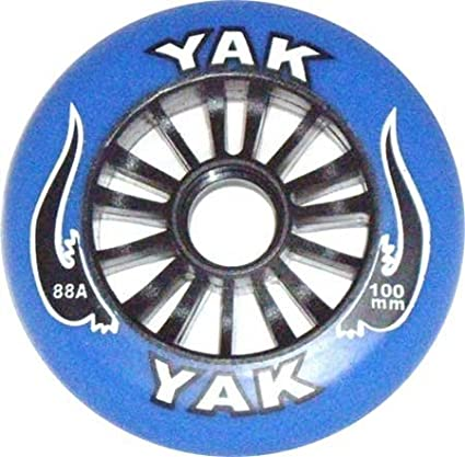 Amazon.com: Yak FA metal core Rueda Blanco/Negro 100 mm ...