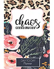 Chaos Coordinator Leopard and Floral Design Daily Task Planner 2020-2021: Lined Undated Daily Task Planner with Checkboxes |Teachers | Students| Busy Moms (Daily Planner Undated)