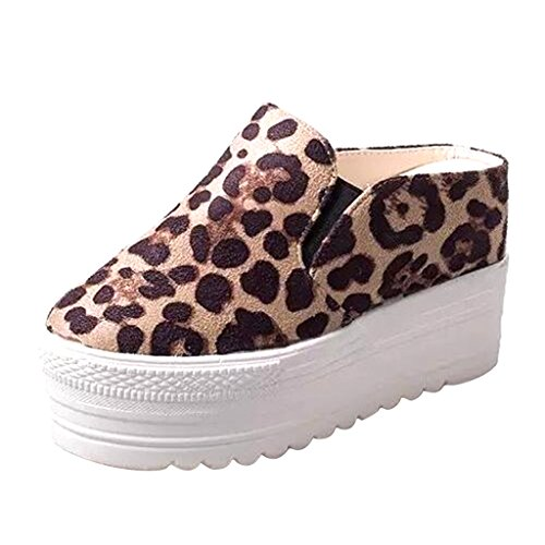 Dear Time Women Thick Sole Creepers Leopard uWY0s01Nk