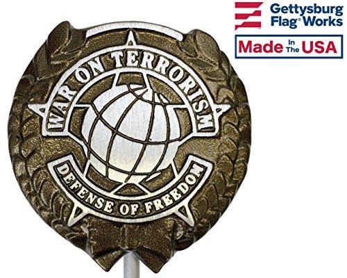 Gettysburg Flag Works Aluminum Grave Marker, War on Terrorism, Cemetery Memorial Flag Holder, Veteran Plaque, Made In USA (Best Places To Visit In Afghanistan)