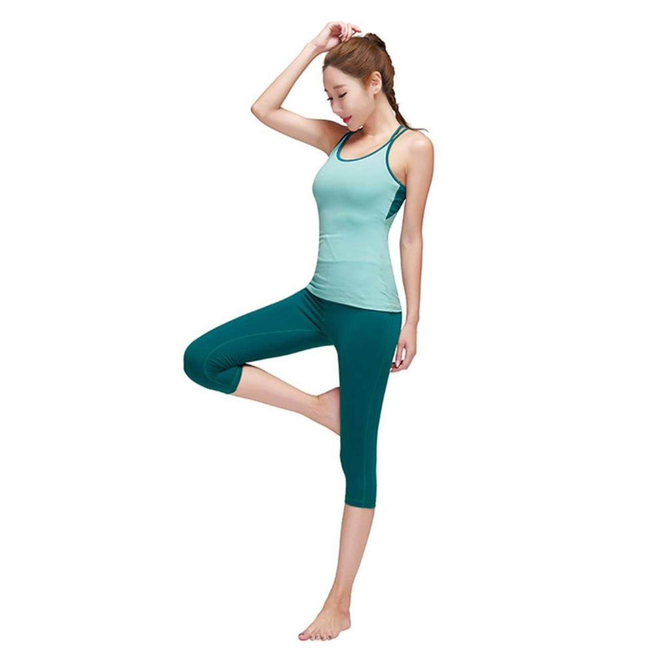 TUONFC Women Fitness Sportswear Running Exercise Yoga Sets Breathable Sports Suit Vest Outdoor