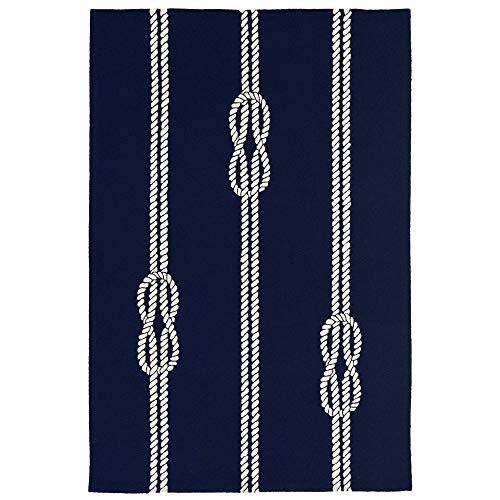 """Liora Manne CAP12163633 Capri Nautical Sea Twine Ropes Indoor/Outdoor Rug 20"""" X 30"""" Navy Blue"""