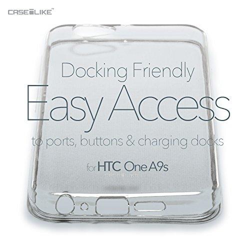 CASEiLIKE Funda HTC A9s , Carcasa HTC One A9s, Mapa del mundo de la vendimia 4608, TPU Gel silicone protectora cover Arte de la mandala 2094