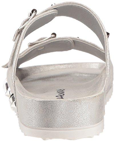 Lustrino Sandalo Argento Da Donna Sporca Da Bucato