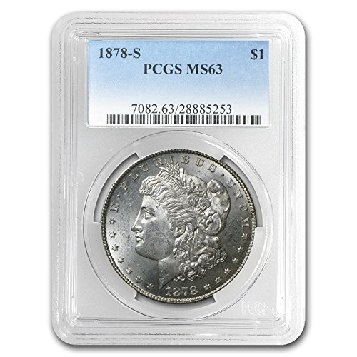 (1878 S Morgan Dollar MS-63 PCGS $1 MS-63 PCGS)