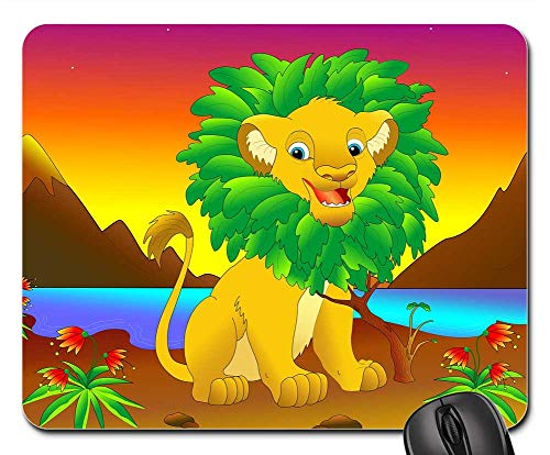 (Mouse Pad - Simba The Lion King Walt Disney Film Cartoon)