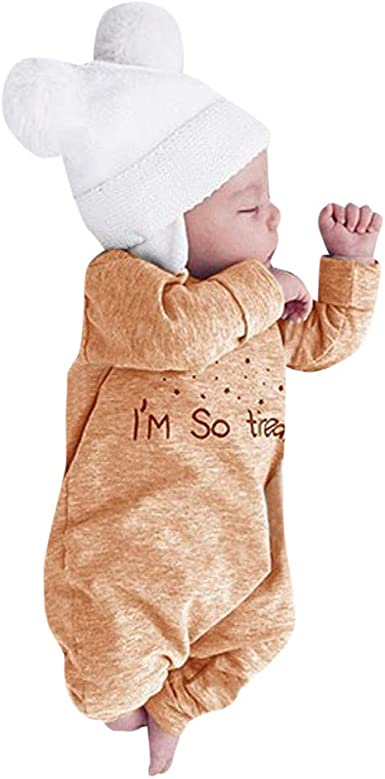 Sameno Infant Baby Boys Girls Camouflage Clothes Print Hooded Romper Jumpsuit Clothes Outfits