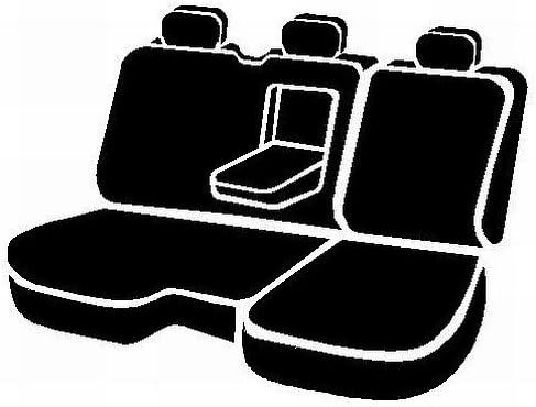 FIA NP92-34 Black with Gray Seat Cover Rear Split Cushion 40//60//Neoprene Center Panel