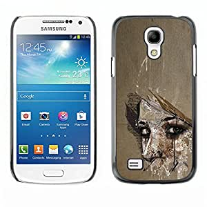 GooooStore / Hard Skin Case Cover Pouch - Meaning Woman Look Eyes Wonder - Samsung Galaxy S4 Mini i9190 MINI VERSION!