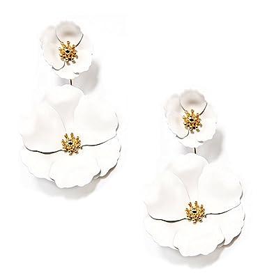 Amazon zenzii two piece flower earrings white jewelry zenzii two piece flower earrings white mightylinksfo
