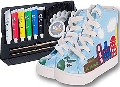 My Design Diy Painting Shoes For Kids Or Teens With 6 Painting Colors Kit Made In Usa