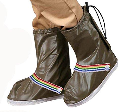 Eagsouni Rain Shoes Cover Waterproof Anti-Slip Bike Motorcycle Reusable Foldable Rain Snow Overshoes for Women Men Girls Kids