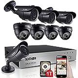 ZOSI 8CH 720P DVR 1280TVL HD Security Camera Review and Comparison