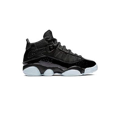 low priced 4afd3 480fd Jordan Preschool 6 Rings Black Black-White (1 M US Little Kid)