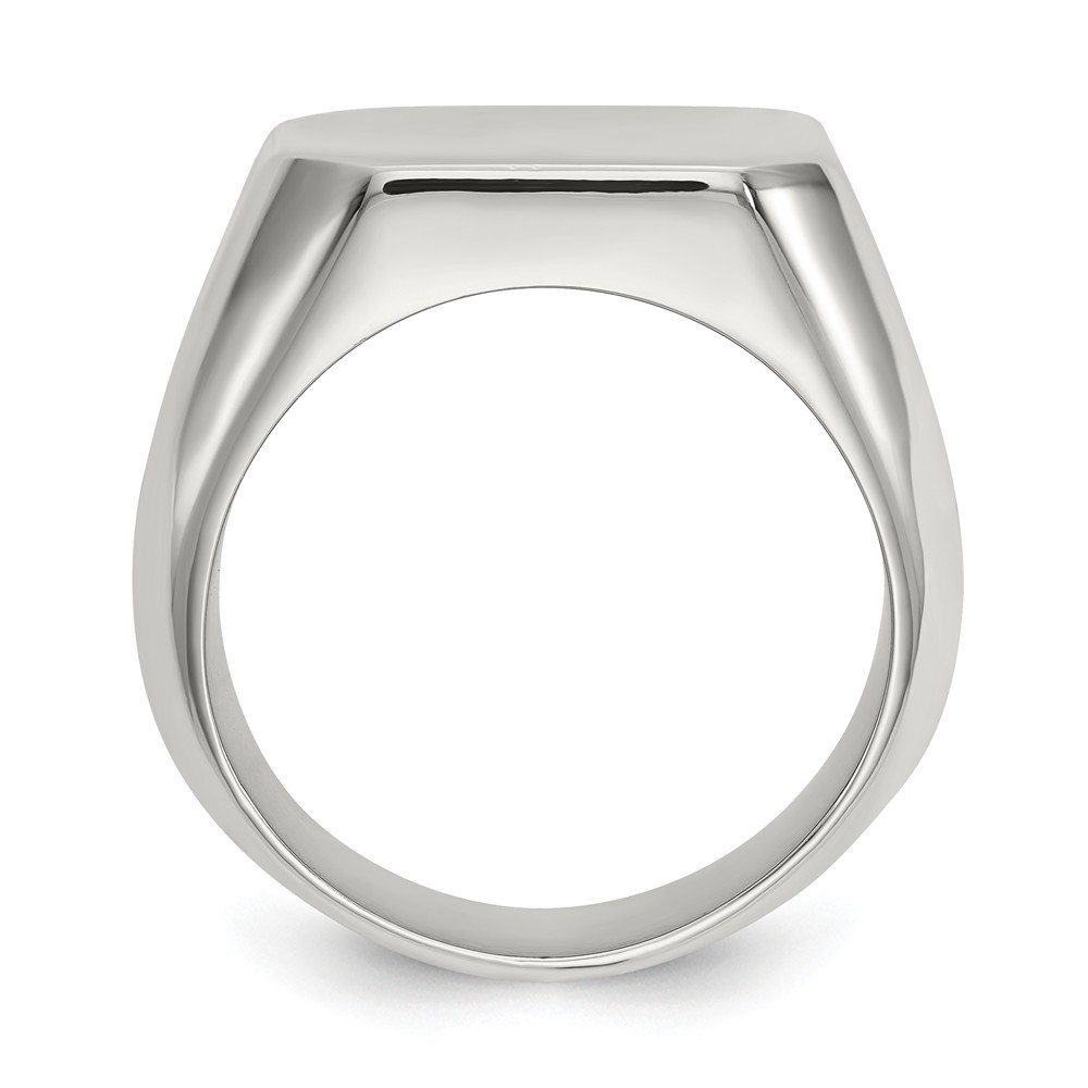 Jewels By Lux Stainless Steel Polished Square Signet Ring