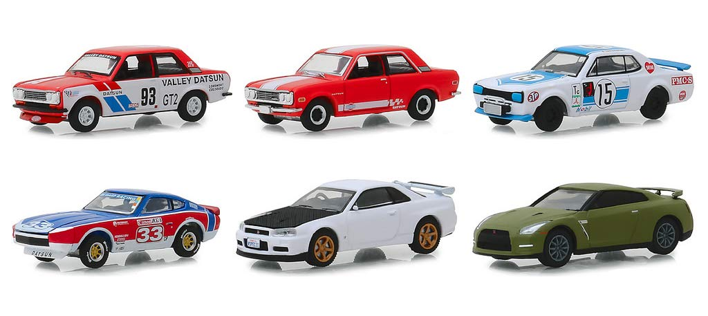 Set of 6 Cars 1//64 Diecast Models by Greenlight 47030 Tokyo Torque Series 5