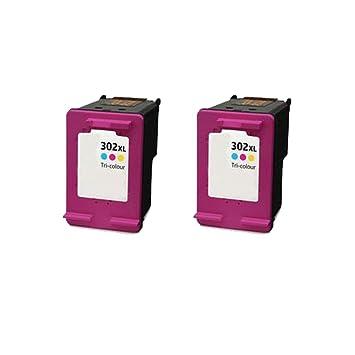 2 ECS Compatible Cartuchos de Tinta reemplazar Tricolor 302 ...