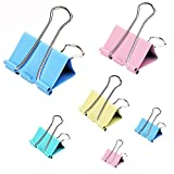 Binder Clips,Assorted Colors, Colorful Paper Clamps Foldback Clips, for Office Schools Kitchen Home Usage,32mm,Q693