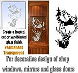 gun cabinet with etched glass - Deer Buck Mountains DIY Etched Glass Vinyl Gun Cabinet Window Front Door GC06B