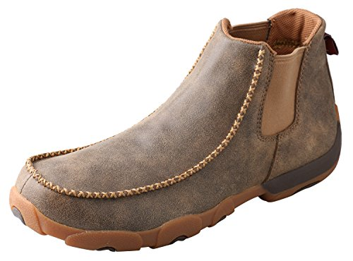 - Twisted X Men's Twin Gore Driving Moccasins Bomber - High-Shaft Outdoor Casual Footwear 8.5D US