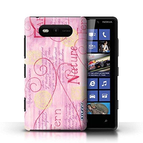 Etui / Coque pour Nokia Lumia 820 / Rose / Jaune conception / Collection de Motif Nature