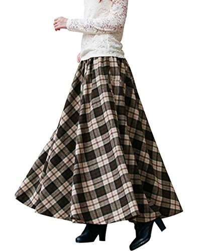 Vintage Wool Plaid Skirt - 4