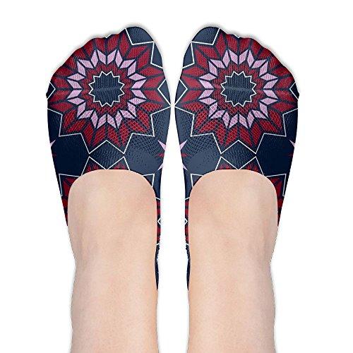 GTFDlkj Women's Boat Socks Cotton Socks Dresden Quilt Fabric (5361) Socks Tourism Travel Low Help Travel Socks