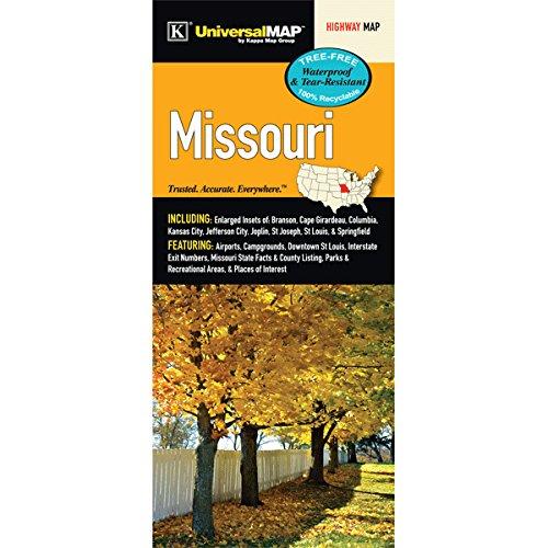 Missouri State Waterproof Map - Missouri State Map