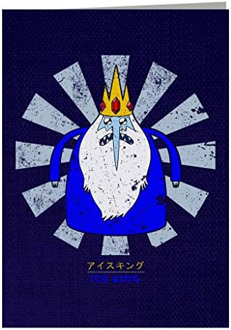 Ice King Retro Japanese Adventure Time Greeting Card