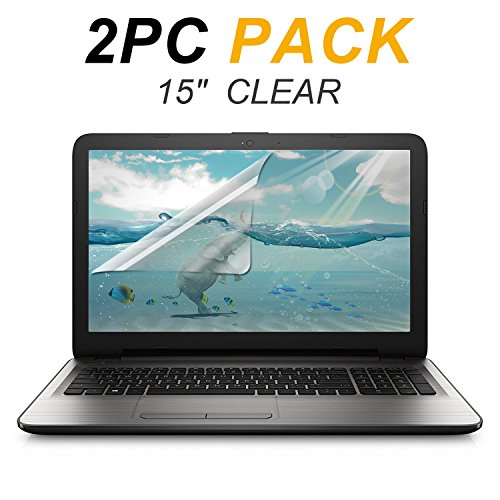 2-Pack FORITO 15.6 Inch Anti Scratch HD Clear LCD Screen Protector for 15 Inch Laptop Display 16:9