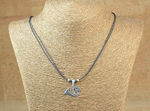 Sterling Silver French Cross (Sterling silver Music French Horn charm necklace.Mens or women gift.unisex pendant)