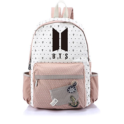 JUSTGOGO KPOP BTS Bangtan Boys Backpack Daypack Laptop Bag College Bag Book Bag School Bag (1)
