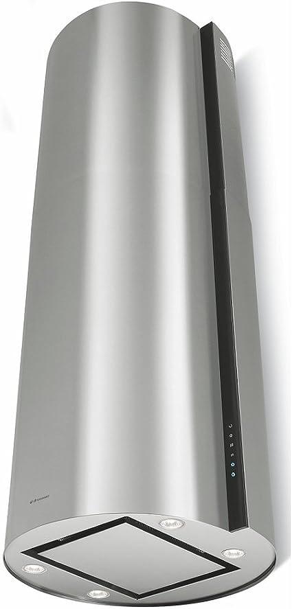 La exclusiva Isla Redonda Campana con función 24h comodidadgalvamet Movie 45/A inox/Black/Negro/cristal Acero Inoxidable Diseño/ECO LED/diseño y fabricado en italia: Amazon.es: Bricolaje y herramientas