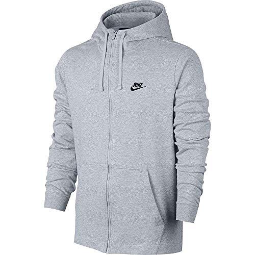 Nike Mens Jersey Club Full Zip Hoodie Birch Heather/Black 861754-051 Size 2X-Large