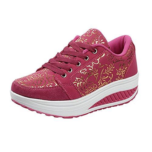 Vrouwen Platform Wandelschoenen Sneaker Loopschoenen Roos