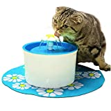 iLoving Cat Water Fountain, Automatic Water Dispenser Fountain Bowls for Pet Dog Kitty Drinking (Blue)