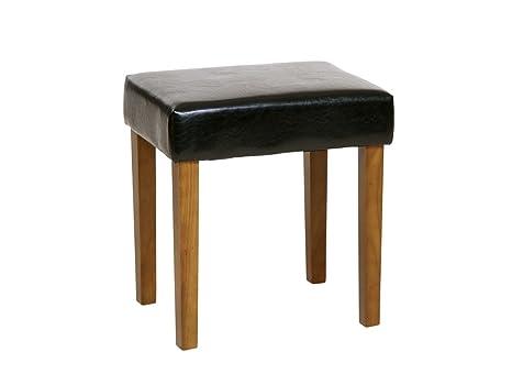 Core products sgabello in ecopelle e legno nero con gambe: amazon