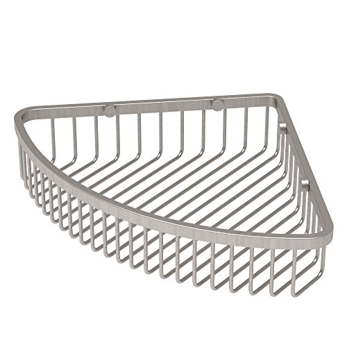 Gatco 1571 Corner Soap Basket, Satin (Gatco Satin Shower Caddy)