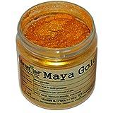 Maya Gold Mica (1 oz jar) Powder Soap Making Colorant Cosmetics Art Crafts Nail Polish Resin Casting Stamping Dye Pigment Color