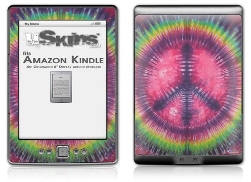 Tie Dye Peace Sign 103 - Decal Style Skin (fits 4th Gen Kindle with 6inch display and no keyboard)