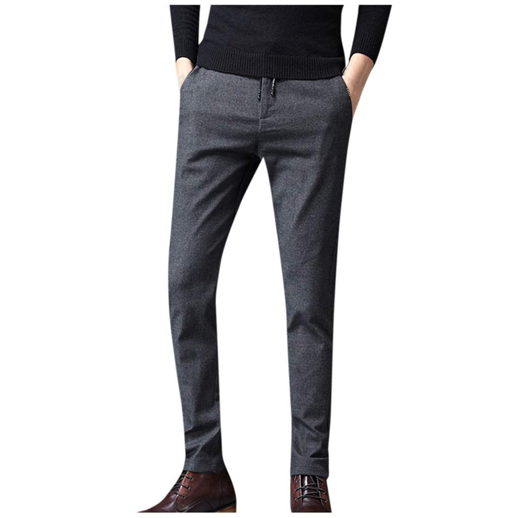 LOVOZO Men's Athletic Pantss Slim Fit Skinny Stretch Denim Jeans Fashionable Solid Colored Super Comfy Pants Gray by LOVOZO