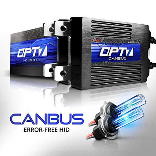 OPT7 Boltzen AC CANbus H7 HID Kit - 5X Brighter - 6X Longer Life - All Bulb Sizes and Colors - 2 Yr Warranty [10000K Deep Blue Xenon Light] ()